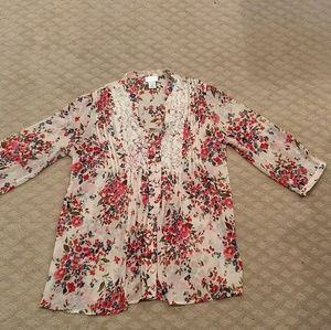 New listing! Floral maternity blouse